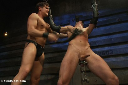 Photo number 3 from Kinky Ass Slave shot for Bound Gods on Kink.com. Featuring Parker London and Sebastian Keys in hardcore BDSM & Fetish porn.