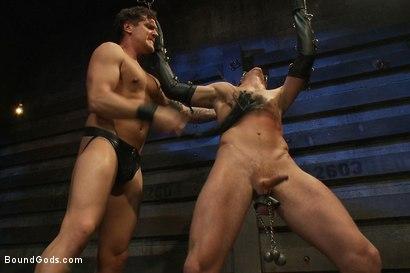 Photo number 3 from Kinky Ass Slave shot for Bound Gods on Kink.com. Featuring Parker London and Sebastian Keys in hardcore BDSM & Fetish porn.