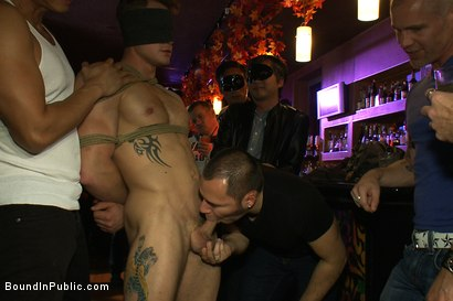 Photo number 1 from Trent Diesel gets a face full of ass while caught in a human centipede shot for Bound in Public on Kink.com. Featuring Trent Diesel and Mike Martin in hardcore BDSM & Fetish porn.