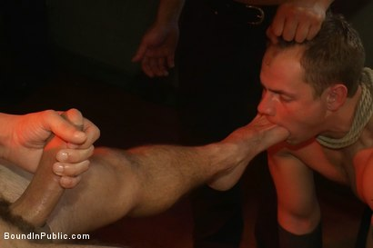 Photo number 12 from Trent Diesel gets a face full of ass while caught in a human centipede shot for Bound in Public on Kink.com. Featuring Trent Diesel and Mike Martin in hardcore BDSM & Fetish porn.