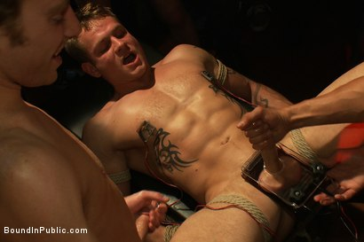 Photo number 14 from Trent Diesel gets a face full of ass while caught in a human centipede shot for Bound in Public on Kink.com. Featuring Trent Diesel and Mike Martin in hardcore BDSM & Fetish porn.