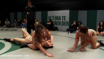 Photo number 13 from BATTLE OF THE CHAMPIONS! TAG TEAM ACTION:<br>Last seasons top 4 battle in brutal Tag Team Action! shot for Ultimate Surrender on Kink.com. Featuring Isis Love, Ariel X, Dee Williams, Cheyenne Jewel and Bella Rossi in hardcore BDSM & Fetish porn.