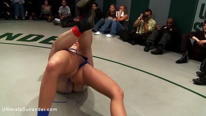 Photo number 8 from BATTLE OF THE CHAMPIONS! TAG TEAM ACTION:<br>Last seasons top 4 battle in brutal Tag Team Action! shot for Ultimate Surrender on Kink.com. Featuring Isis Love, Ariel X, Dee Williams, Cheyenne Jewel and Bella Rossi in hardcore BDSM & Fetish porn.
