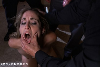 Photo number 5 from Life on Parole shot for Bound Gang Bangs on Kink.com. Featuring James Deen, Kara Price, John Strong and Henry Jacob in hardcore BDSM & Fetish porn.