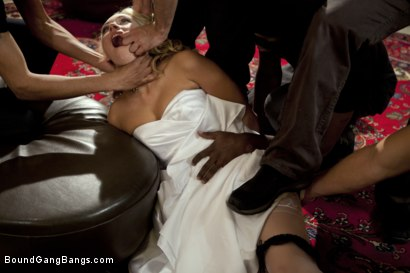 Photo number 3 from The Honeymoon Suite shot for Bound Gang Bangs on Kink.com. Featuring James Deen, Katie Summers, John Strong, Mickey Mod, Christian Wilde, Bobby Bends and Blake in hardcore BDSM & Fetish porn.
