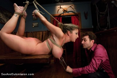 Photo number 4 from Mistreated: Sara Jay shot for Sex And Submission on Kink.com. Featuring James Deen and Sara Jay in hardcore BDSM & Fetish porn.