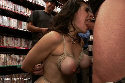 Photo number 5 from Hot MILF With Big Tits Gets Disgraced and Ass Fucked in Porn Store shot for Public Disgrace on Kink.com. Featuring Mark Davis, Princess Donna Dolore and Annika in hardcore BDSM & Fetish porn.