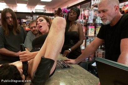 Photo number 12 from Hot MILF With Big Tits Gets Disgraced and Ass Fucked in Porn Store shot for Public Disgrace on Kink.com. Featuring Mark Davis, Princess Donna Dolore and Annika in hardcore BDSM & Fetish porn.