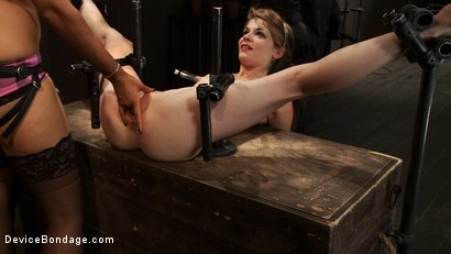 Photo number 5 from Hand, Prosthetic, Machine - There's more than one way to fuck a slut shot for Device Bondage on Kink.com. Featuring Isis Love and Sensi Pearl in hardcore BDSM & Fetish porn.