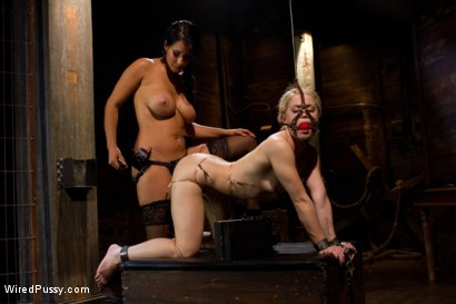 Photo number 7 from Journalist, Ash Hollywood, learns what is means to be non-biased through electro motivation! shot for Wired Pussy on Kink.com. Featuring Isis Love and Ash Hollywood in hardcore BDSM & Fetish porn.