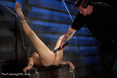 Photo number 12 from Training Dylan-Day 5<br>Live Show-Final Test shot for The Training Of O on Kink.com. Featuring Dylan Ryan in hardcore BDSM & Fetish porn.