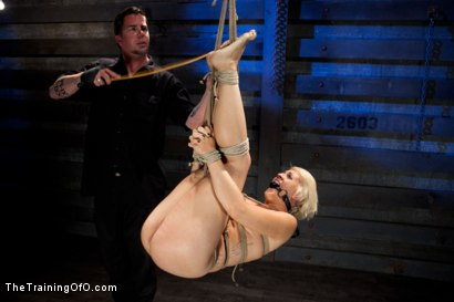 Photo number 6 from Training Dylan-Day 5<br>Live Show-Final Test shot for The Training Of O on Kink.com. Featuring Dylan Ryan in hardcore BDSM & Fetish porn.