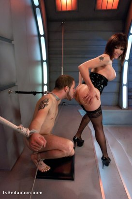 Photo number 11 from She's Back and She's Built You Up <br> Transsexual Experiments shot for TS Seduction on Kink.com. Featuring Eva Lin and Wolf Hudson in hardcore BDSM & Fetish porn.