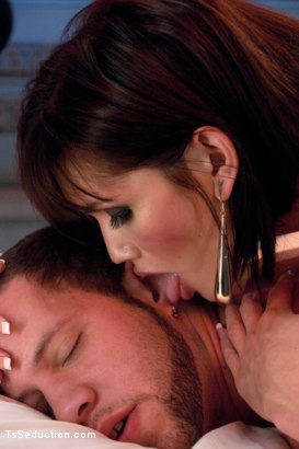 Photo number 5 from She's Back and She's Built You Up <br> Transsexual Experiments shot for TS Seduction on Kink.com. Featuring Eva Lin and Wolf Hudson in hardcore BDSM & Fetish porn.
