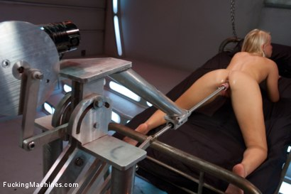 Photo number 15 from How Long Can She Fuck For - Machine vs. Pussy shot for Fucking Machines on Kink.com. Featuring Vanessa Cage in hardcore BDSM & Fetish porn.