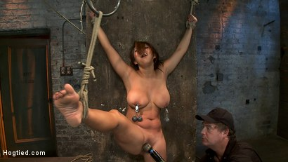 Photo number 12 from Hot Flexible Asian with big tits & nipples   Has her leg pulled up & suspended! Cums over & over. shot for Hogtied on Kink.com. Featuring Baylee Lee in hardcore BDSM & Fetish porn.