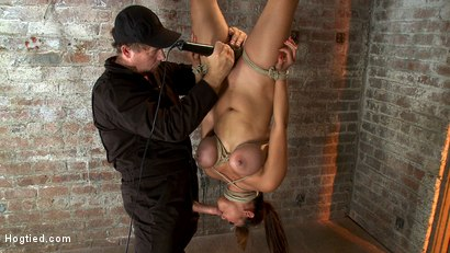 Photo number 8 from Cute Asian has her huge tits bound<br>Made to cum while being throat fucked. Bowling balled to hell! shot for Hogtied on Kink.com. Featuring Baylee Lee in hardcore BDSM & Fetish porn.