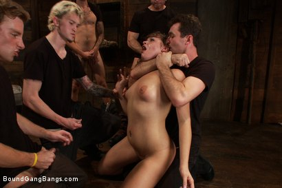 Photo number 3 from Take Down Challenge for Adorable 19 Year Old shot for Bound Gang Bangs on Kink.com. Featuring Ashlynn Leigh, James Deen, Christian Wilde, Mykal Caine, Sebastian Keys and John Strong in hardcore BDSM & Fetish porn.