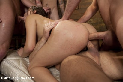 Photo number 8 from Take Down Challenge for Adorable 19 Year Old shot for Bound Gang Bangs on Kink.com. Featuring Ashlynn Leigh, James Deen, Christian Wilde, Mykal Caine, Sebastian Keys and John Strong in hardcore BDSM & Fetish porn.