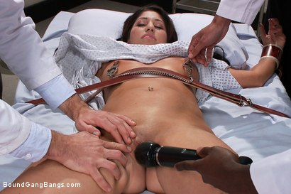 Photo number 1 from The Medical Study shot for Bound Gang Bangs on Kink.com. Featuring James Deen, Britney Stevens, Jon Jon, Bobby Bends, Dietrich Cyrus and Mickey Mod in hardcore BDSM & Fetish porn.