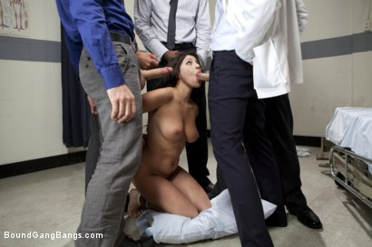 Photo number 15 from The Medical Study shot for Bound Gang Bangs on Kink.com. Featuring James Deen, Britney Stevens, Jon Jon, Bobby Bends, Dietrich Cyrus and Mickey Mod in hardcore BDSM & Fetish porn.