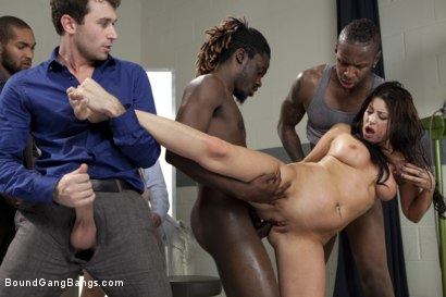 Photo number 5 from The Medical Study shot for Bound Gang Bangs on Kink.com. Featuring James Deen, Britney Stevens, Jon Jon, Bobby Bends, Dietrich Cyrus and Mickey Mod in hardcore BDSM & Fetish porn.