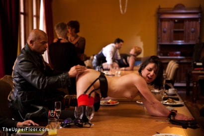 Photo number 12 from Stefanos' Brunch shot for The Upper Floor on Kink.com. Featuring Maestro Stefanos, Skin Diamond and Juliette March in hardcore BDSM & Fetish porn.