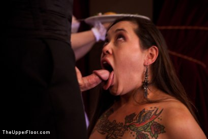 Photo number 13 from Stefanos' Brunch shot for The Upper Floor on Kink.com. Featuring Maestro Stefanos, Skin Diamond and Juliette March in hardcore BDSM & Fetish porn.
