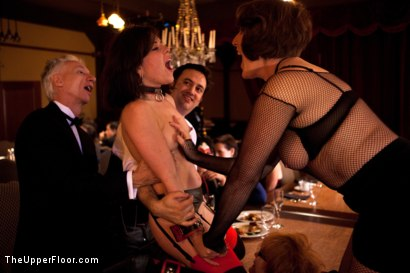Photo number 16 from Stefanos' Brunch shot for The Upper Floor on Kink.com. Featuring Maestro Stefanos, Skin Diamond and Juliette March in hardcore BDSM & Fetish porn.