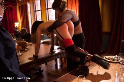 Photo number 21 from Stefanos' Brunch shot for The Upper Floor on Kink.com. Featuring Maestro Stefanos, Skin Diamond and Juliette March in hardcore BDSM & Fetish porn.