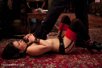 Photo number 5 from Stefanos' Brunch shot for The Upper Floor on Kink.com. Featuring Maestro Stefanos, Skin Diamond and Juliette March in hardcore BDSM & Fetish porn.