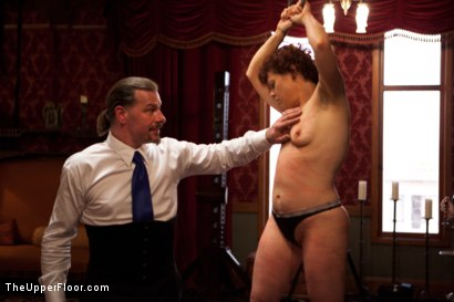 Photo number 9 from Stefanos' Brunch shot for The Upper Floor on Kink.com. Featuring Maestro Stefanos, Skin Diamond and Juliette March in hardcore BDSM & Fetish porn.