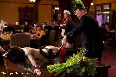 Photo number 12 from Stefanos' Brunch shot for The Upper Floor on Kink.com. Featuring Maestro Stefanos, Krysta Kaos and Nerine Mechanique in hardcore BDSM & Fetish porn.