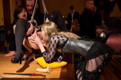 Photo number 16 from Stefanos' Brunch shot for The Upper Floor on Kink.com. Featuring Maestro Stefanos, Krysta Kaos and Nerine Mechanique in hardcore BDSM & Fetish porn.