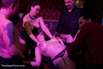 Photo number 19 from Stefanos' Brunch shot for The Upper Floor on Kink.com. Featuring Maestro Stefanos, Krysta Kaos and Nerine Mechanique in hardcore BDSM & Fetish porn.