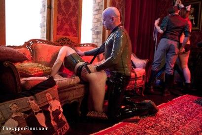 Photo number 27 from Stefanos' Brunch shot for The Upper Floor on Kink.com. Featuring Maestro Stefanos, Krysta Kaos and Nerine Mechanique in hardcore BDSM & Fetish porn.