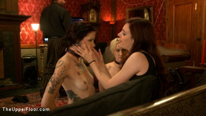 Photo number 4 from New Tramp in Town shot for The Upper Floor on Kink.com. Featuring Dylan Ryan, Krysta Kaos and Iona Grace in hardcore BDSM & Fetish porn.