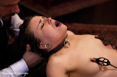 Photo number 13 from New Slaves Struggle to Please shot for The Upper Floor on Kink.com. Featuring Dylan Ryan and Juliette March in hardcore BDSM & Fetish porn.
