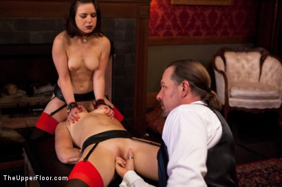 Photo number 15 from New Slaves Struggle to Please shot for The Upper Floor on Kink.com. Featuring Dylan Ryan and Juliette March in hardcore BDSM & Fetish porn.