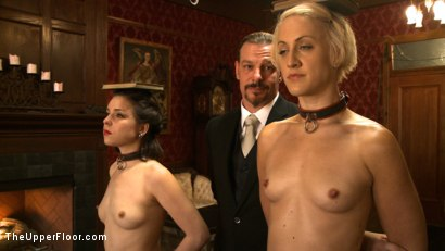 Photo number 11 from Alone with The Steward shot for The Upper Floor on Kink.com. Featuring Juliette March, Dylan Ryan and Maestro Stefanos in hardcore BDSM & Fetish porn.