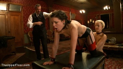 Photo number 6 from Alone with The Steward shot for The Upper Floor on Kink.com. Featuring Juliette March, Dylan Ryan and Maestro Stefanos in hardcore BDSM & Fetish porn.