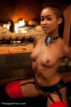 Photo number 1 from Bound slave girls deep throating cock gags shot for The Upper Floor on Kink.com. Featuring Krysta Kaos and Skin Diamond in hardcore BDSM & Fetish porn.