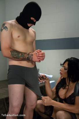 Photo number 2 from Classic Shoot: Ts Sasha Strokes & her TEN inches of Law and Order  shot for TS Seduction on Kink.com. Featuring Sasha Strokes and Scott Upton in hardcore BDSM & Fetish porn.