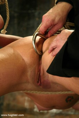 Photo number 7 from Jenni Lee and Lew Rubens shot for Hogtied on Kink.com. Featuring Lew Rubens and Jenni Lee in hardcore BDSM & Fetish porn.