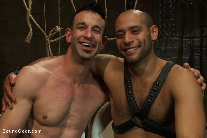 Photo number 15 from Flip Fuck - Part One shot for Bound Gods on Kink.com. Featuring Leo Forte and Jason Miller in hardcore BDSM & Fetish porn.