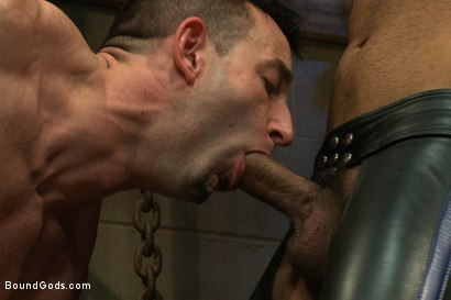 Photo number 5 from Flip Fuck - Part One shot for Bound Gods on Kink.com. Featuring Leo Forte and Jason Miller in hardcore BDSM & Fetish porn.