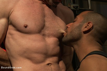 Photo number 4 from Flip Fuck - Part One shot for Bound Gods on Kink.com. Featuring Leo Forte and Jason Miller in hardcore BDSM & Fetish porn.