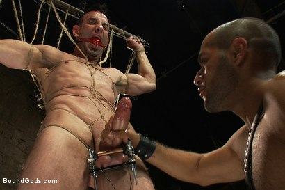 Photo number 8 from Flip Fuck - Part One shot for Bound Gods on Kink.com. Featuring Leo Forte and Jason Miller in hardcore BDSM & Fetish porn.