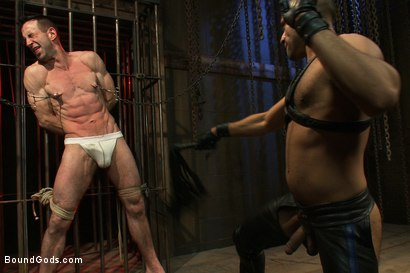 Photo number 3 from Flip Fuck - Part One shot for Bound Gods on Kink.com. Featuring Leo Forte and Jason Miller in hardcore BDSM & Fetish porn.