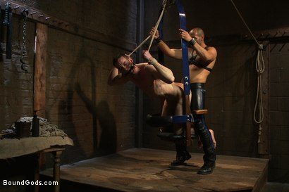Photo number 12 from Flip Fuck - Part One shot for Bound Gods on Kink.com. Featuring Leo Forte and Jason Miller in hardcore BDSM & Fetish porn.